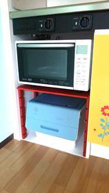 電子レンジ・収納ボックス