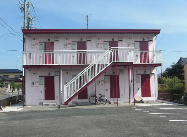 菊川市赤土の賃貸アパートの外観図
