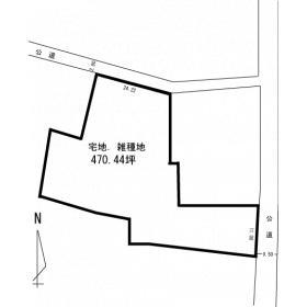 磐田市福田の売土地,売り地の間取図