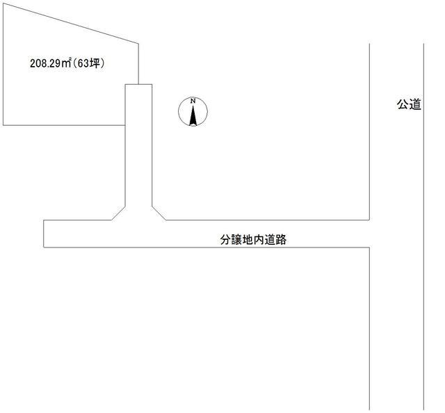 区画図 最新の情報はお問い合わせ下さい。下水道入っています。