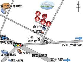 区画(1)と前面道路 無断でのご見学はご遠慮下さい。