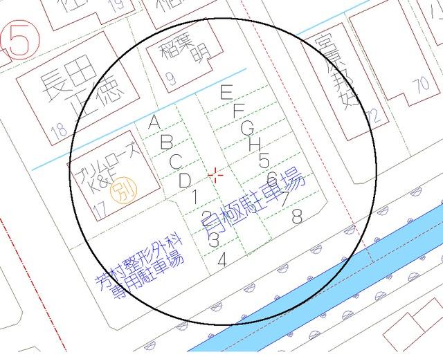 静岡市葵区古庄1丁目の駐車場の間取図
