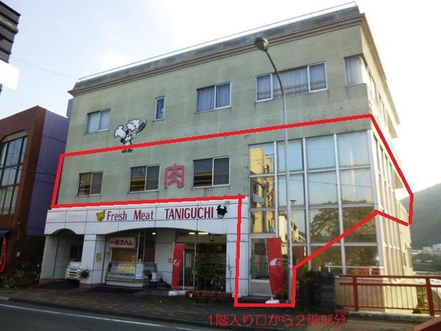 伊豆市柏久保の賃貸店舗,事務所の外観図